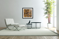 geometric square pattern abstract in brown and black  Acrylic Print