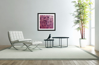psychedelic grunge painting abstract texture in pink  Acrylic Print