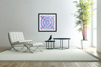 psychedelic graffiti circle pattern abstract in pink blue purple  Acrylic Print