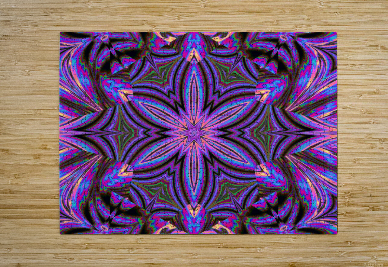 Psychedelic Jasmine 1  HD Metal print with Floating Frame on Back