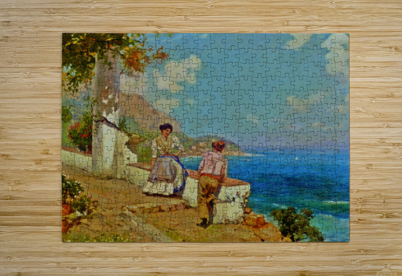 Courting couple in Naples  HD Metal print with Floating Frame on Back