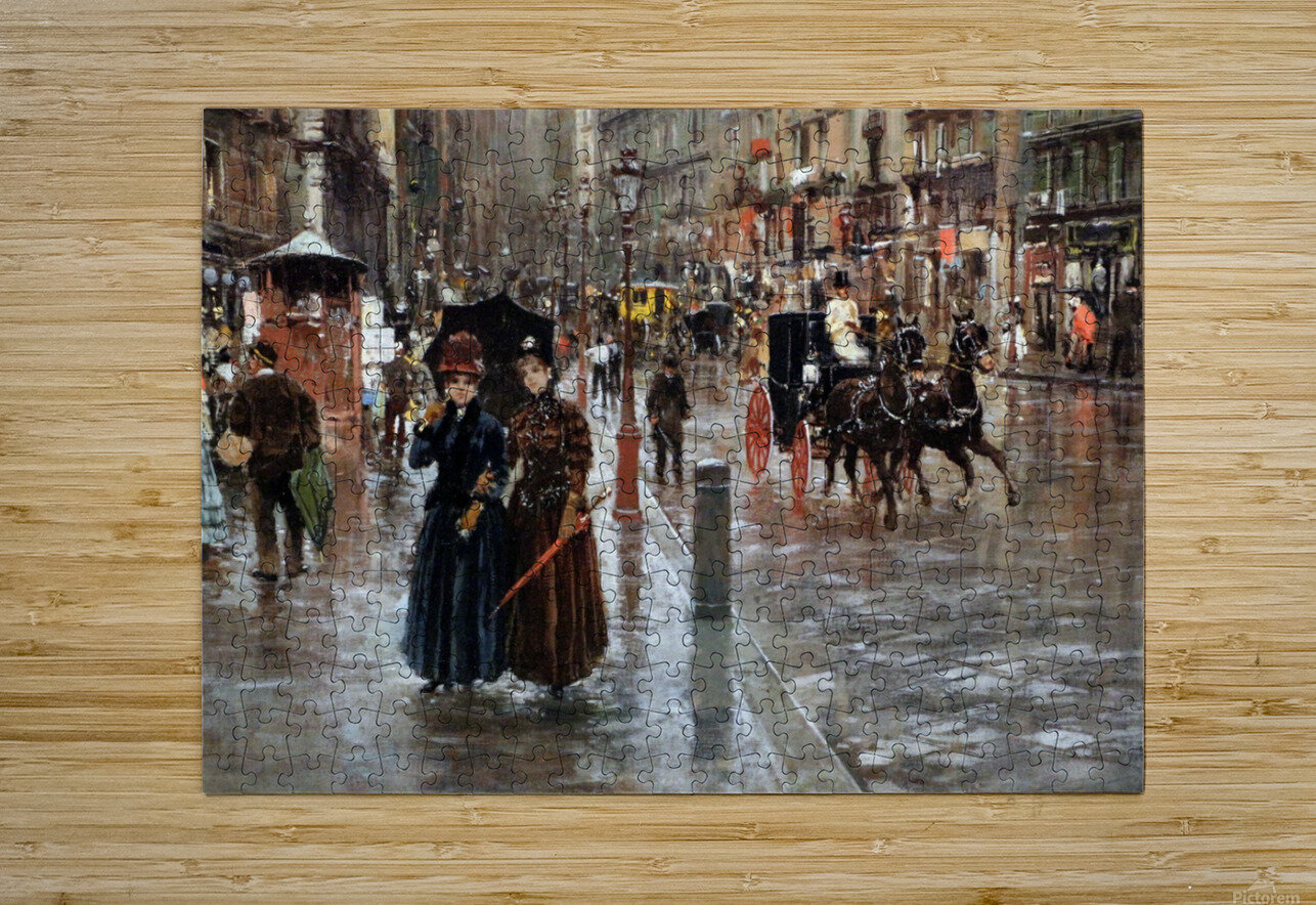Naples via Toledo, with rain drops  HD Metal print with Floating Frame on Back