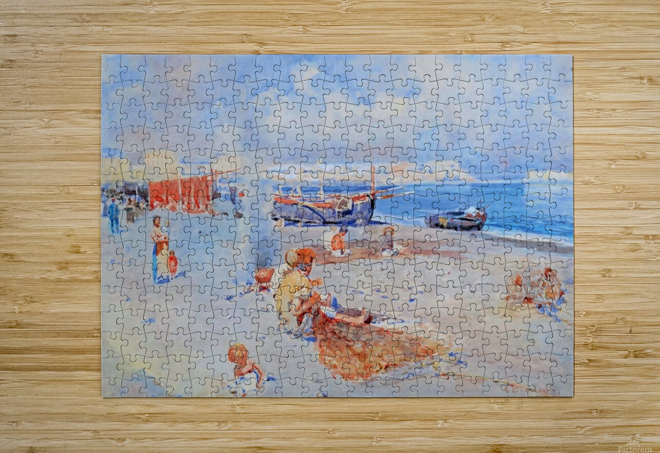 Beach of Mergellina  HD Metal print with Floating Frame on Back