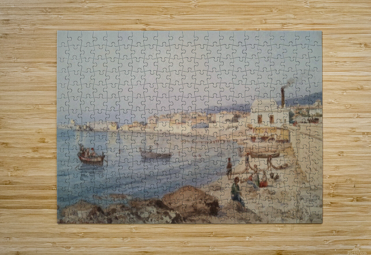 Marina di Napoli  HD Metal print with Floating Frame on Back