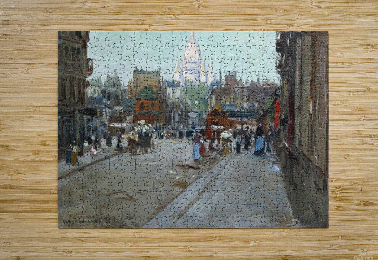Montmartre  HD Metal print with Floating Frame on Back