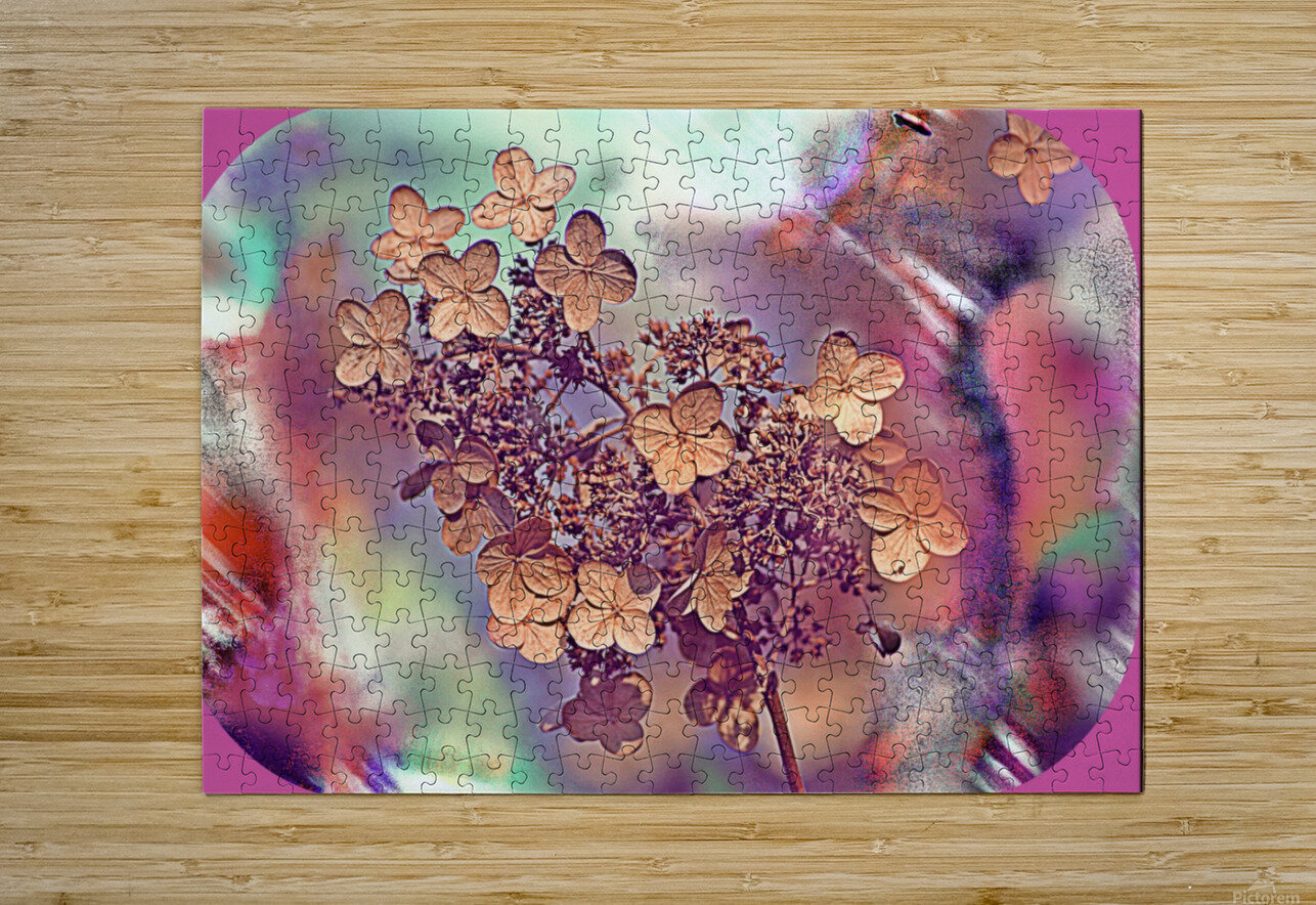GoldLeaf  HD Metal print with Floating Frame on Back