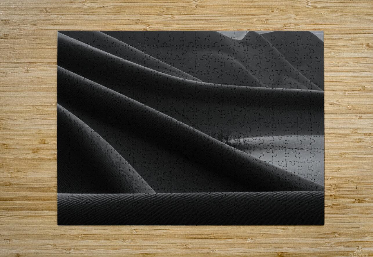 footprint & hidden bushes  HD Metal print with Floating Frame on Back