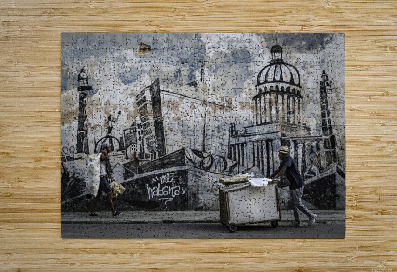 Mi Habana  Impression métal HD avec cadre flottant sur le dos