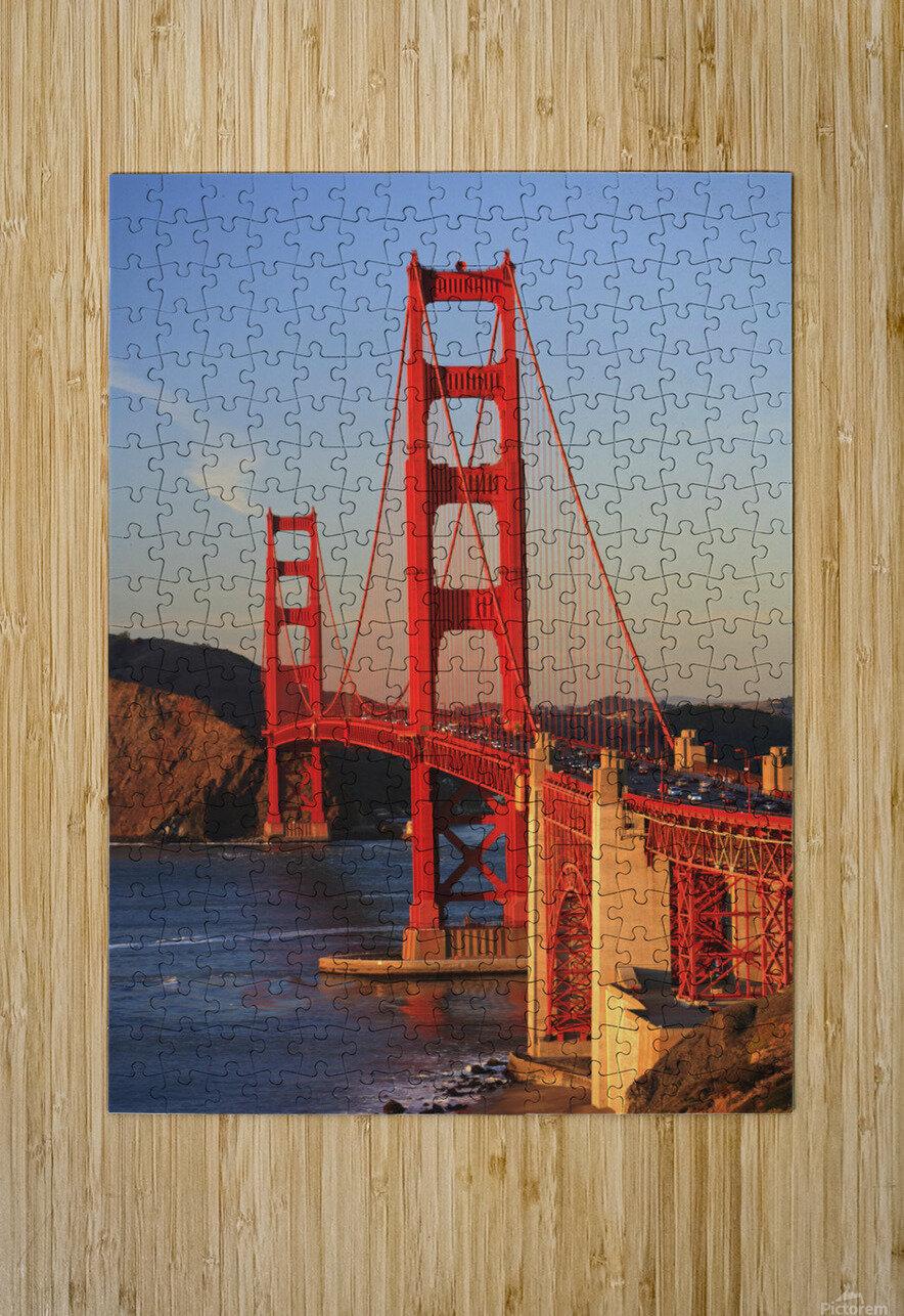 Golden Gate Bridge; San Francisco, California, United States of America  HD Metal print with Floating Frame on Back