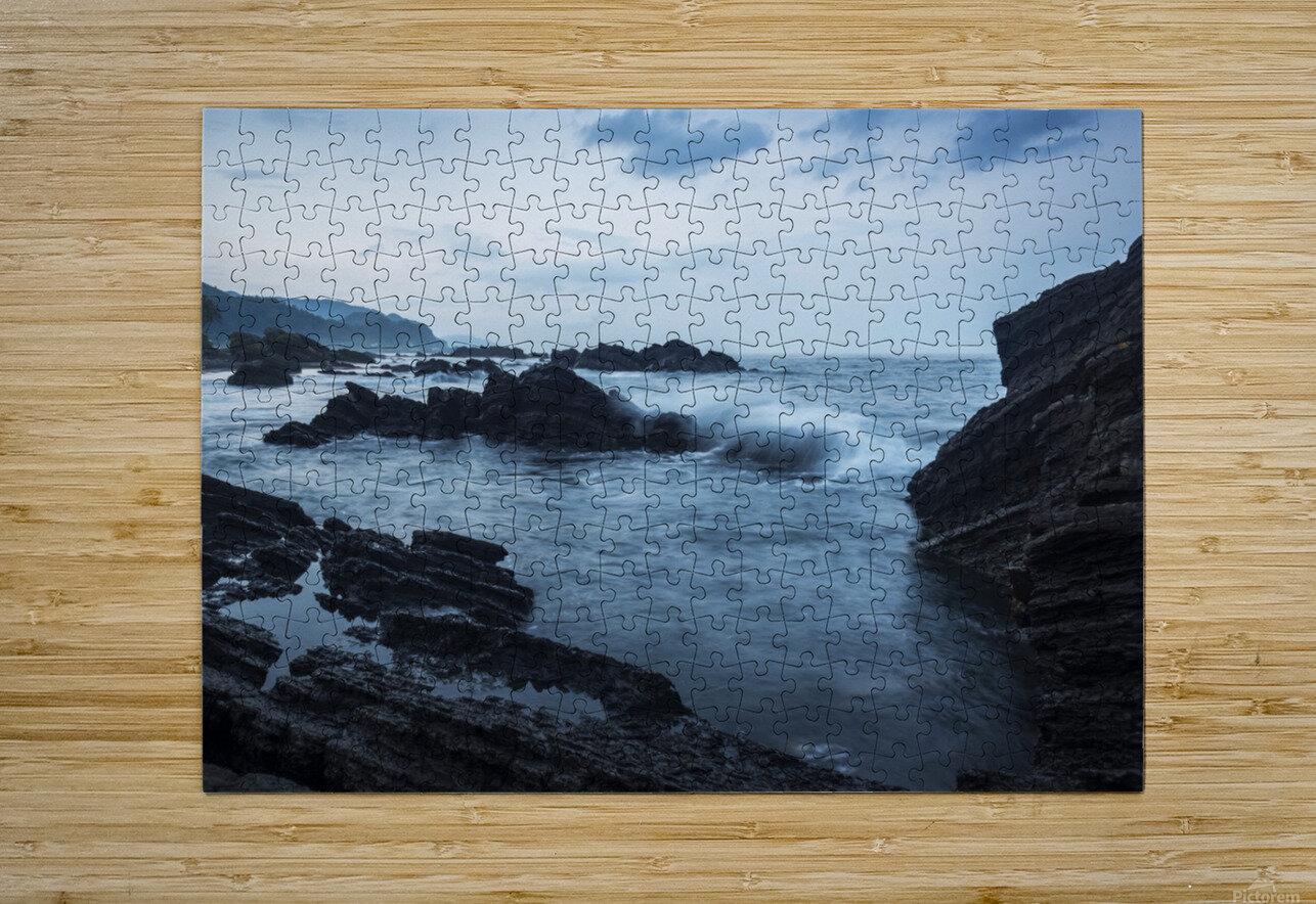 Waiao beach in Yilan County, beautiful volcanic landscape; Taiwan, China  HD Metal print with Floating Frame on Back