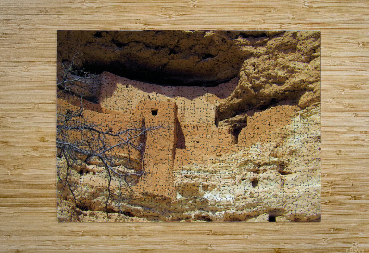 Montezuma's Castle-12  HD Metal print with Floating Frame on Back