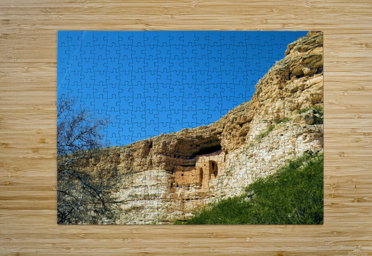 Montezuma's Castle-10  HD Metal print with Floating Frame on Back