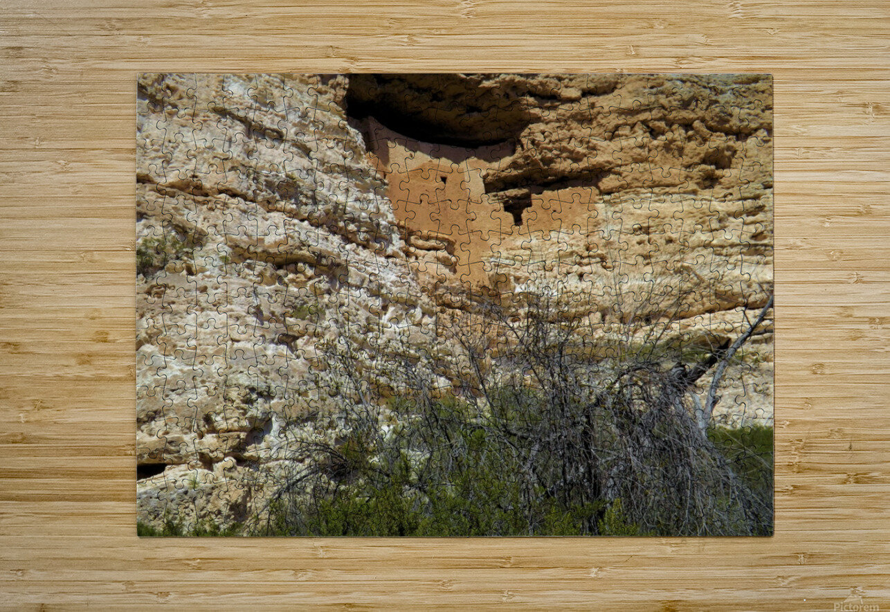 Montezuma's Castle-5  HD Metal print with Floating Frame on Back