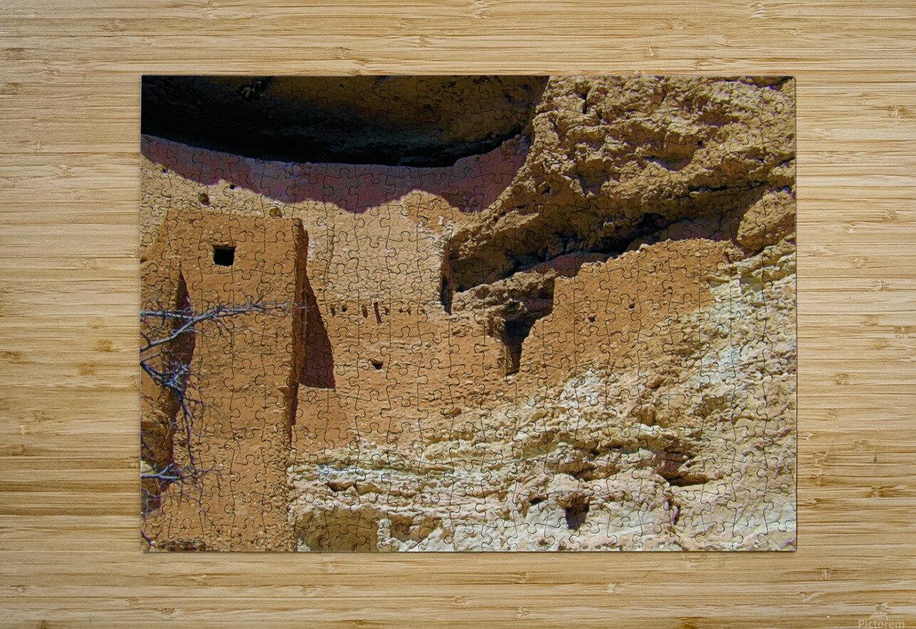 Montezuma's Castle-4  Impression métal HD avec cadre flottant sur le dos