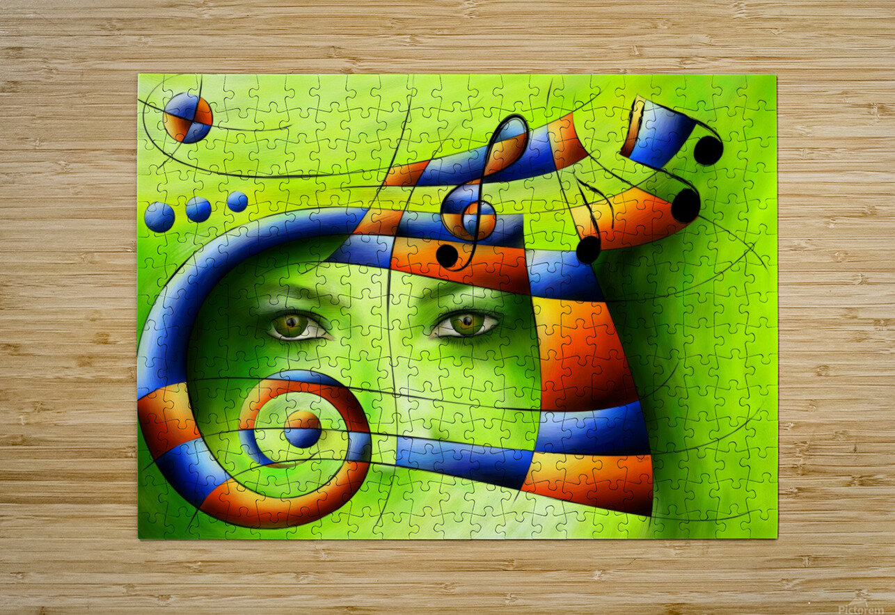 Hispanissia - painted music  HD Metal print with Floating Frame on Back