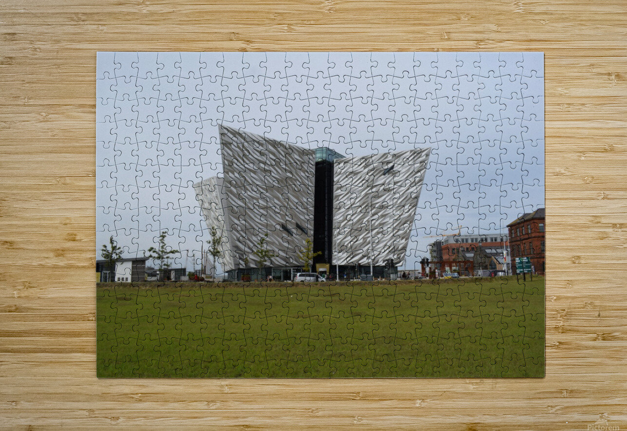 THE TITANIC MUSEUM, BELFAST  HD Metal print with Floating Frame on Back