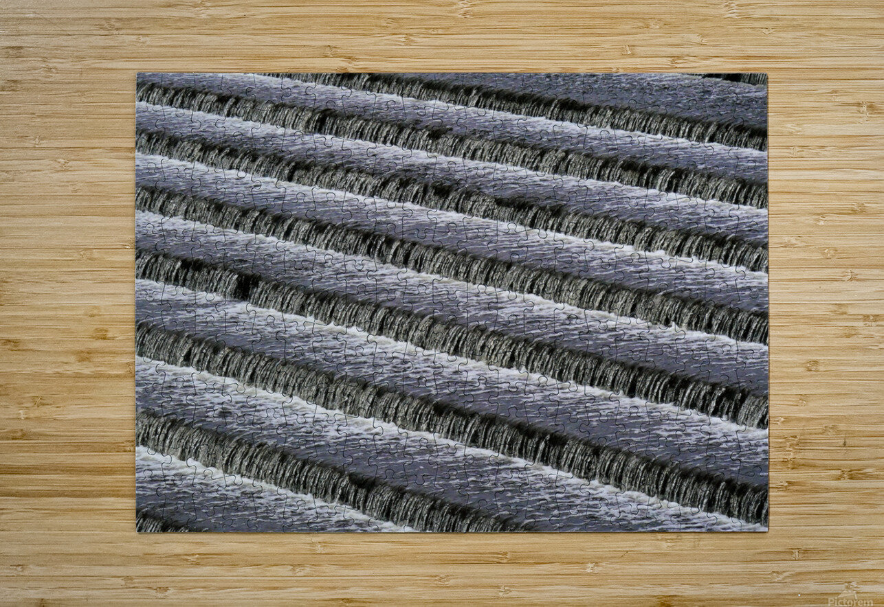 Weir steps  HD Metal print with Floating Frame on Back