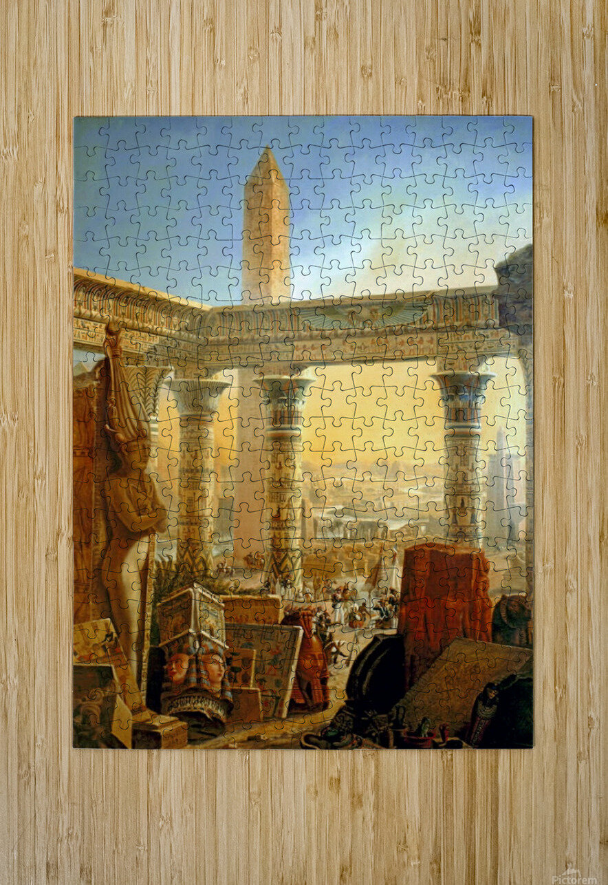 Monuments of Egypt, 1821  HD Metal print with Floating Frame on Back
