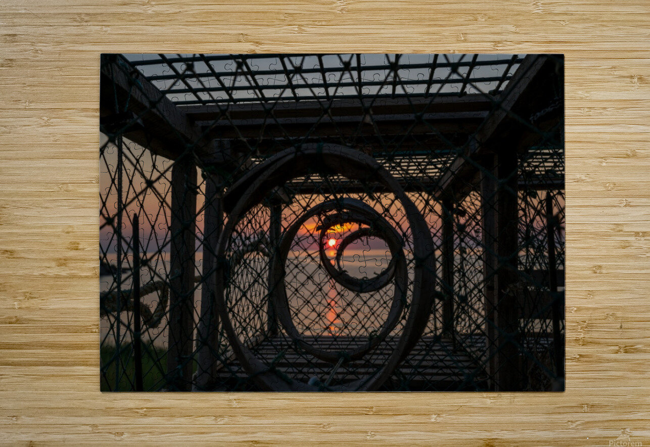 Trapped Sunset  HD Metal print with Floating Frame on Back