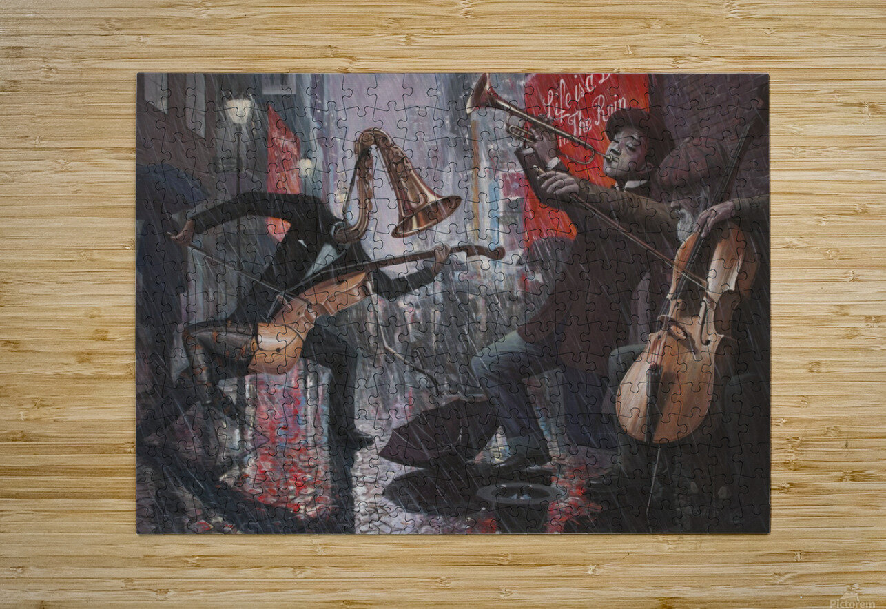 Life is a Dance in The Rain V  HD Metal print with Floating Frame on Back