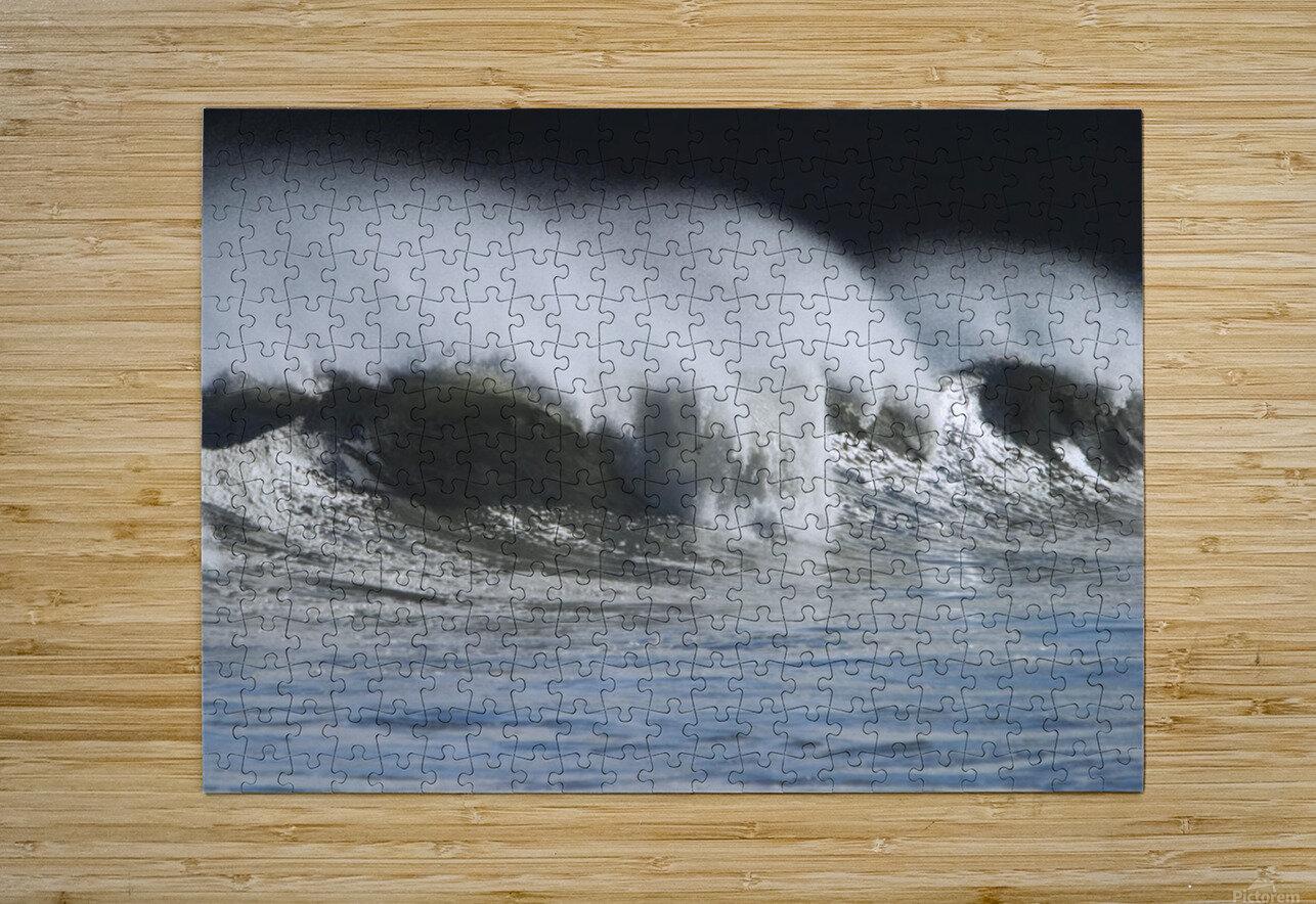 Waves Crashing On Mill Bay Beach Kodiak Island Southwest Alaska Autumn  HD Metal print with Floating Frame on Back