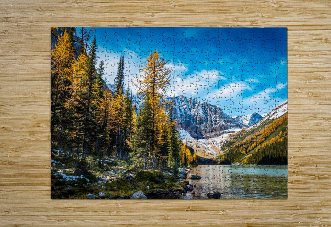 Taylor Lake, Alberta  HD Metal print with Floating Frame on Back