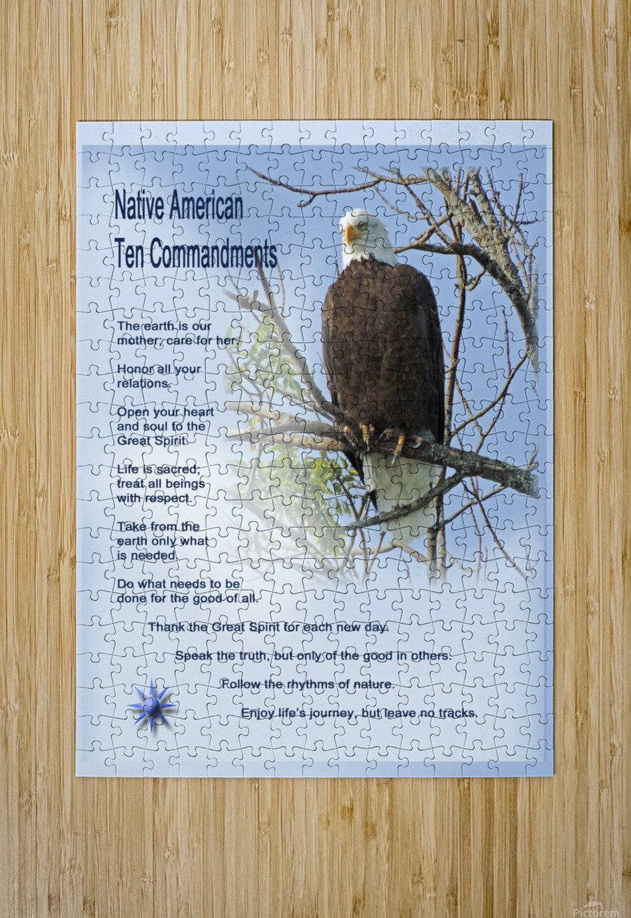 NativeTenCommandments2  HD Metal print with Floating Frame on Back