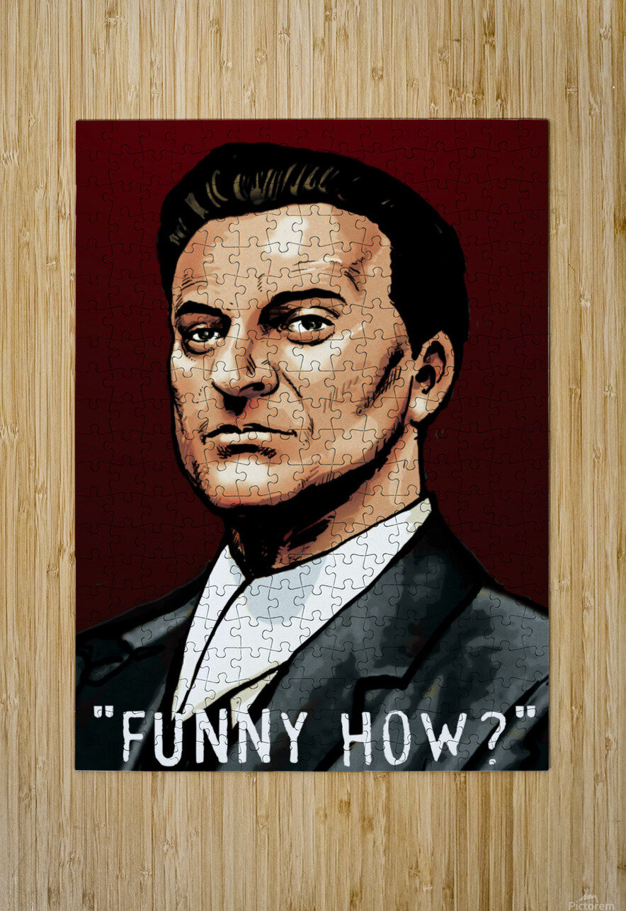 Joe Pesci in Goodfellas - Funny How  HD Metal print with Floating Frame on Back