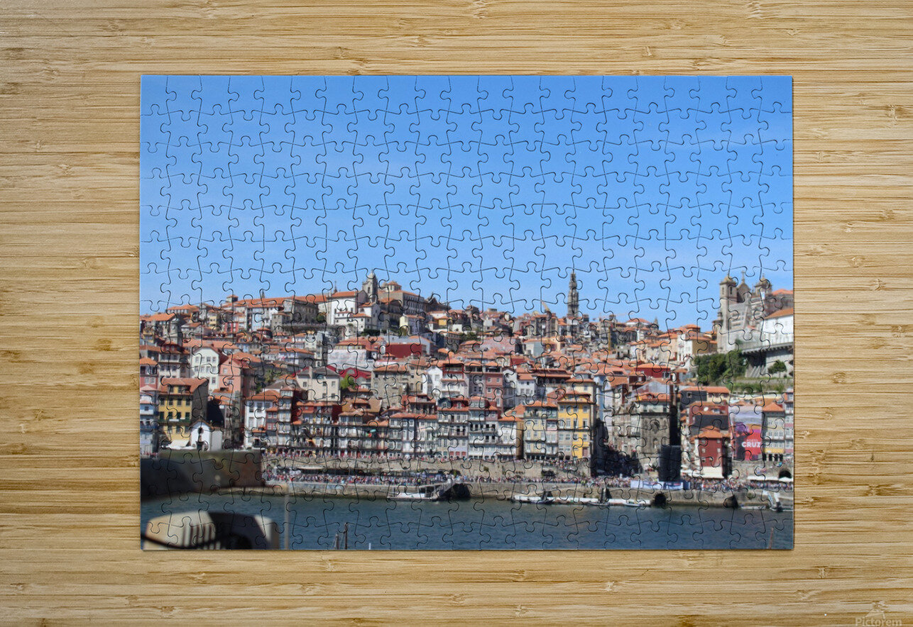 Oporto City at Douro River  HD Metal print with Floating Frame on Back