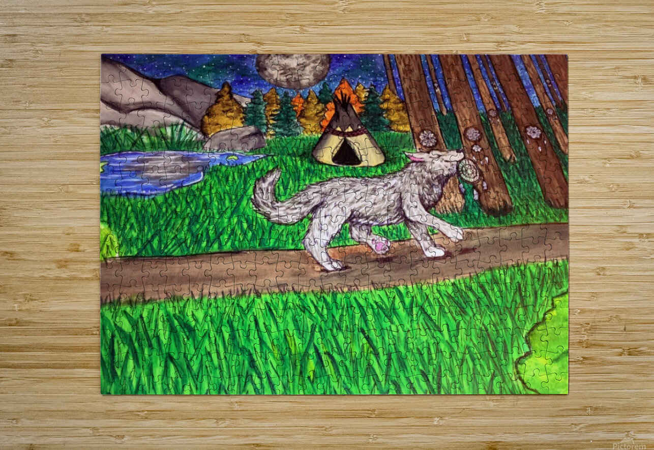 ProudWolf  HD Metal print with Floating Frame on Back