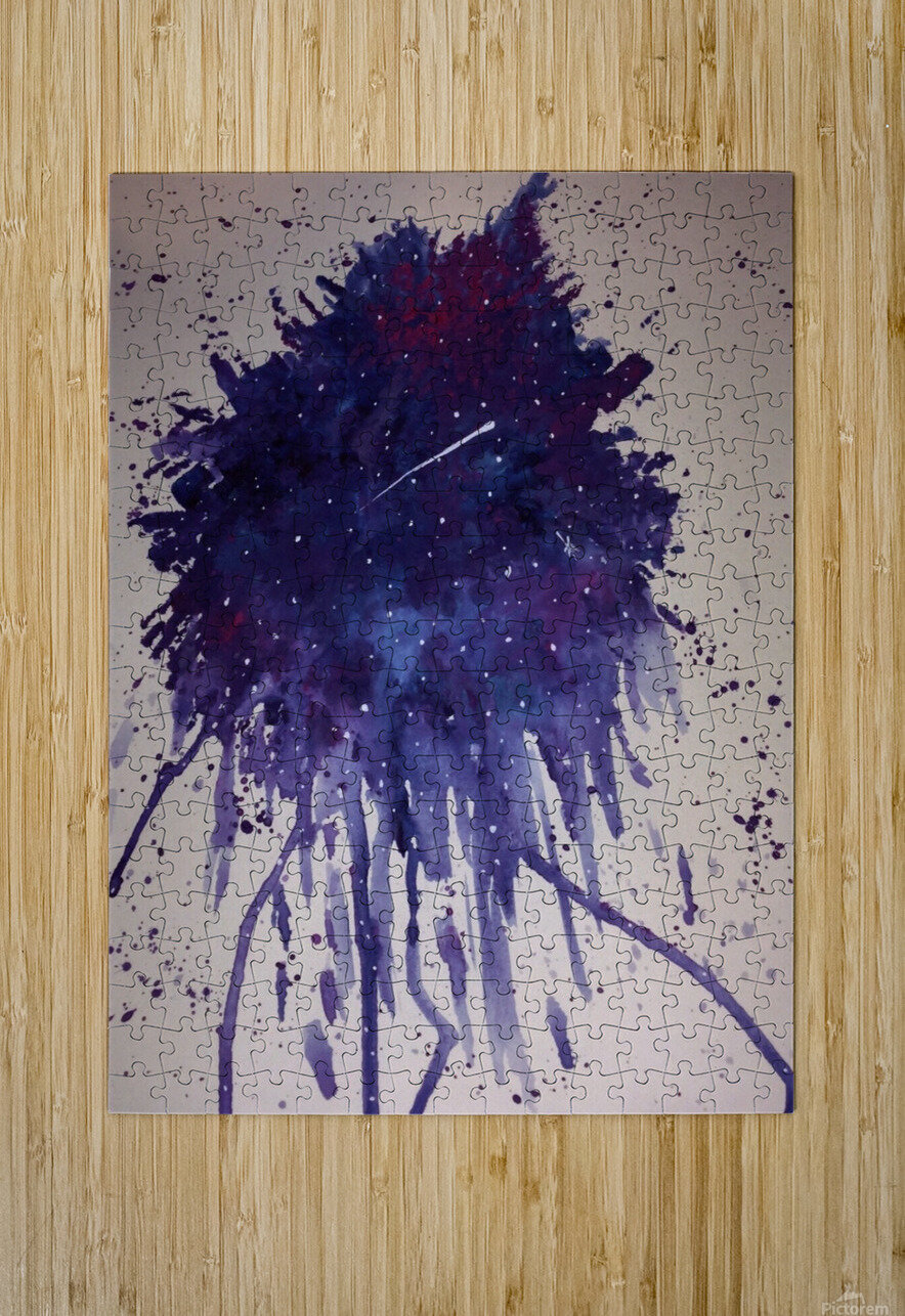 Space Splat  HD Metal print with Floating Frame on Back