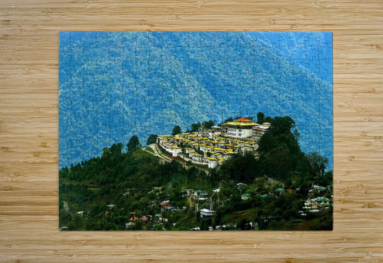 North East India  HD Metal print with Floating Frame on Back