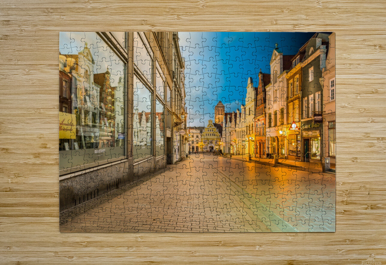 Wismar Day2Night  HD Metal print with Floating Frame on Back