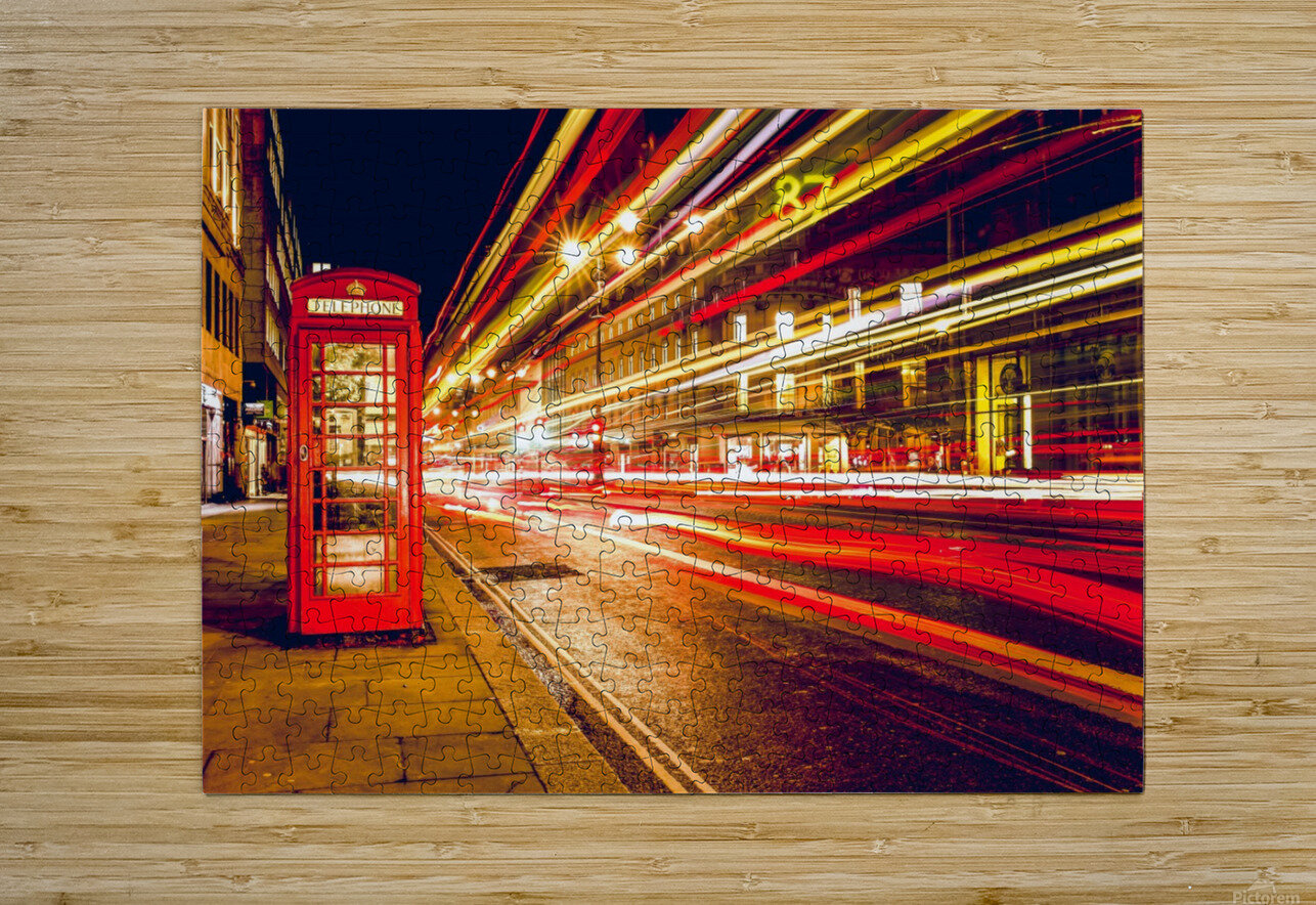 Telephone Box Timelapse  HD Metal print with Floating Frame on Back