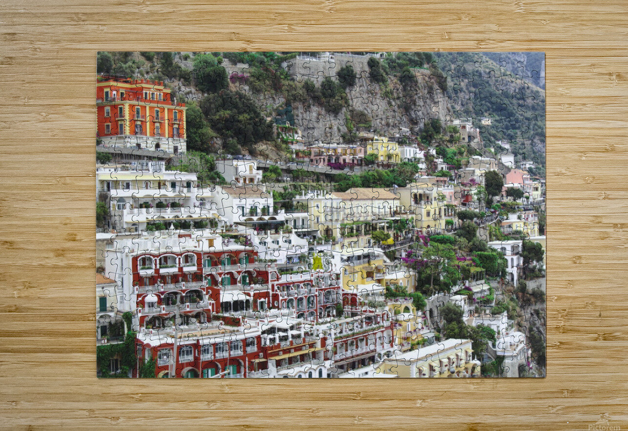 Houses at Amalfi Town - Italy  HD Metal print with Floating Frame on Back