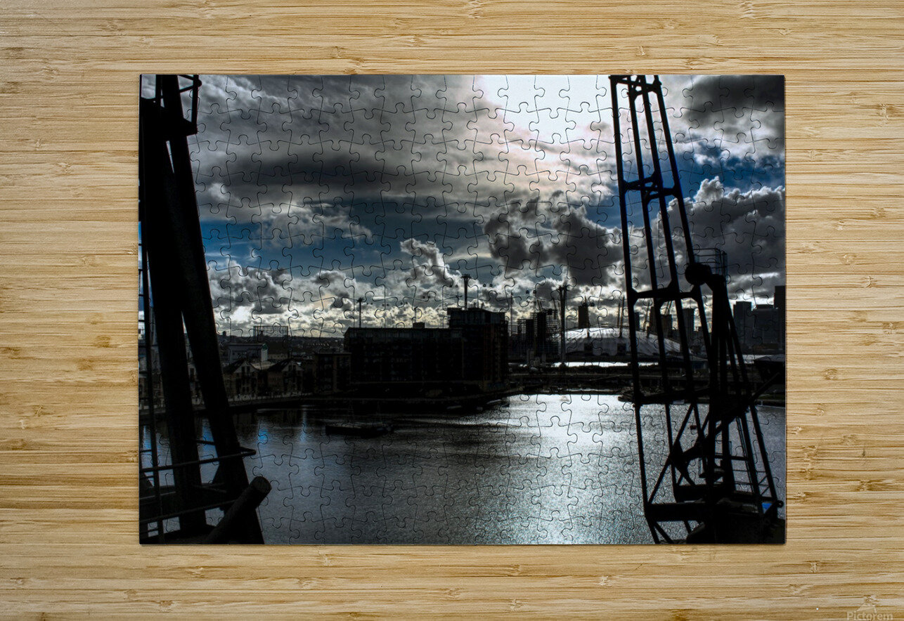 London Dramatic Sky - UK  HD Metal print with Floating Frame on Back