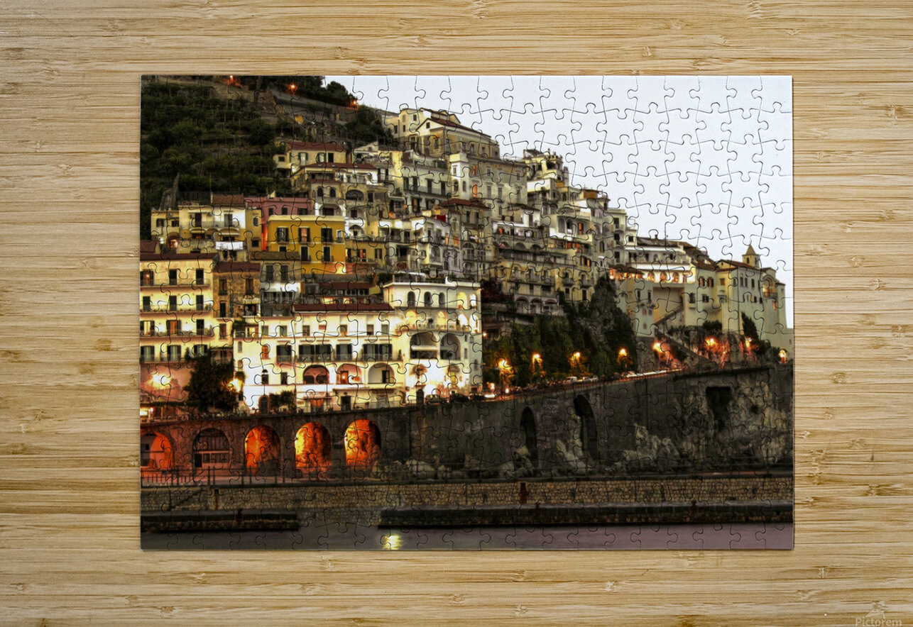 Amalfi Village  Landscape - Italy  HD Metal print with Floating Frame on Back