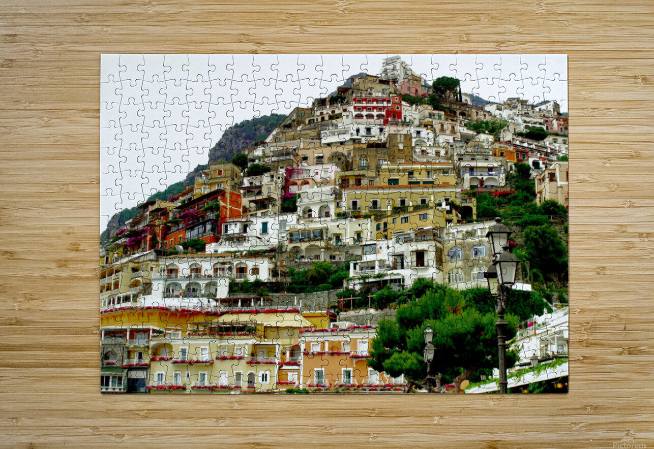 Positano Village in Amalfi Coast - Italy  HD Metal print with Floating Frame on Back