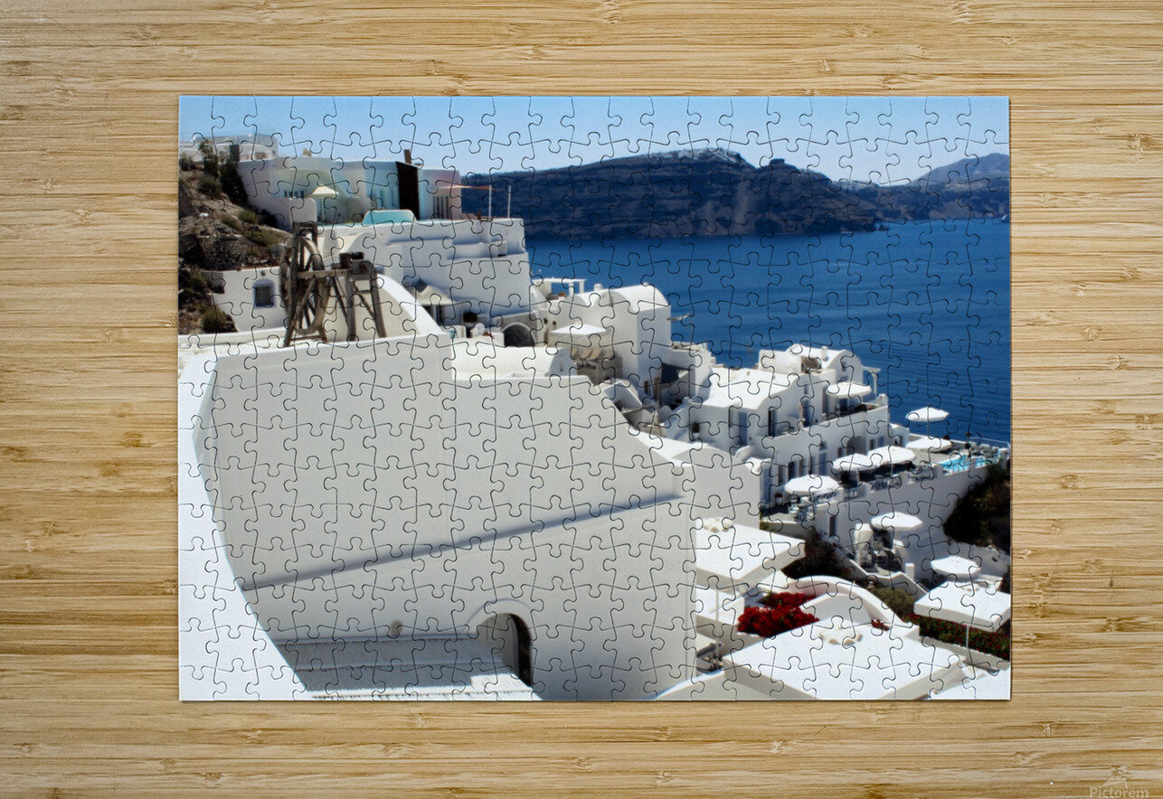 Santorini Landscape - Greece  HD Metal print with Floating Frame on Back
