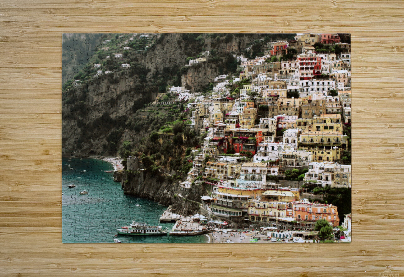 Positano Beach Landscape - Italy  HD Metal print with Floating Frame on Back