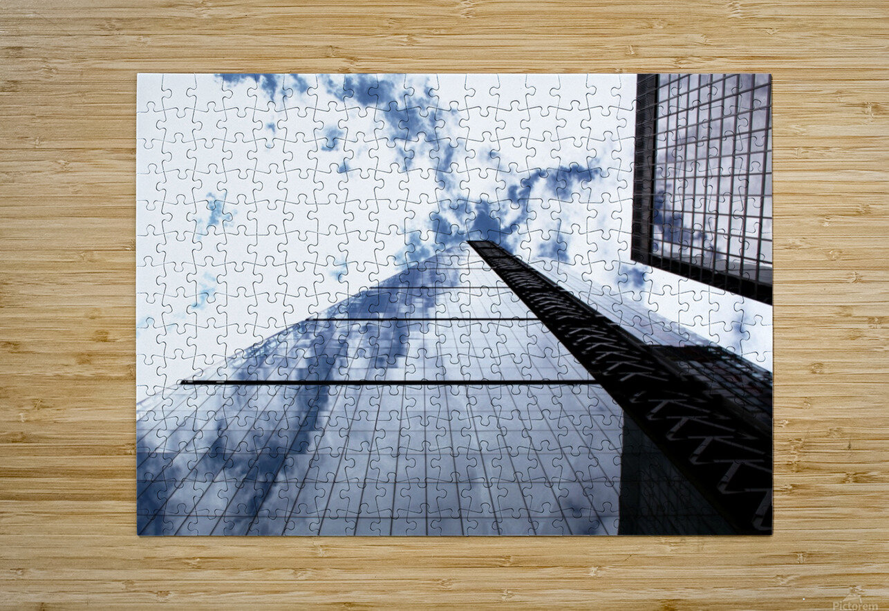 London City - Skyscraper  HD Metal print with Floating Frame on Back