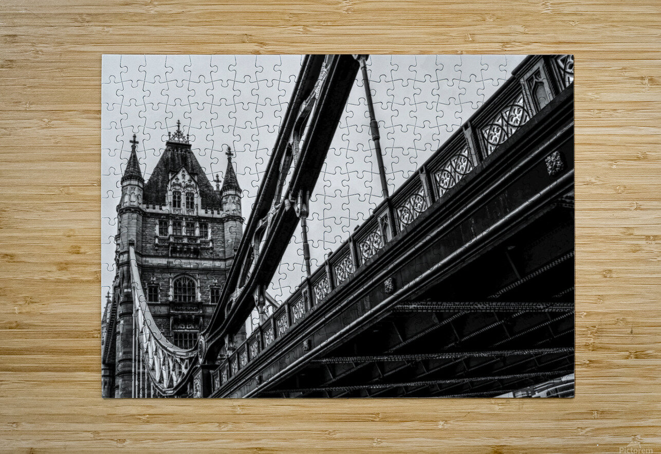 Tower Bridge Close up - London - Uk  HD Metal print with Floating Frame on Back