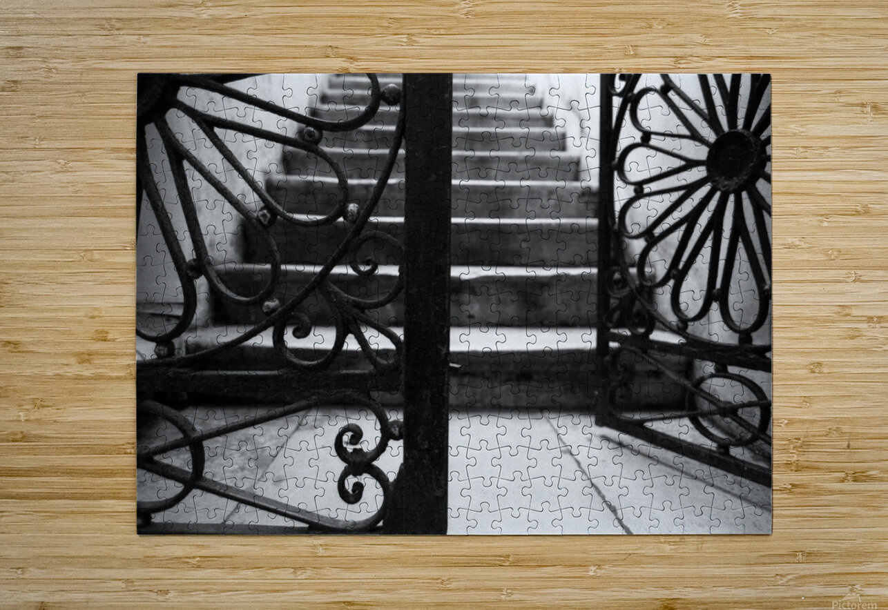 The gate  HD Metal print with Floating Frame on Back