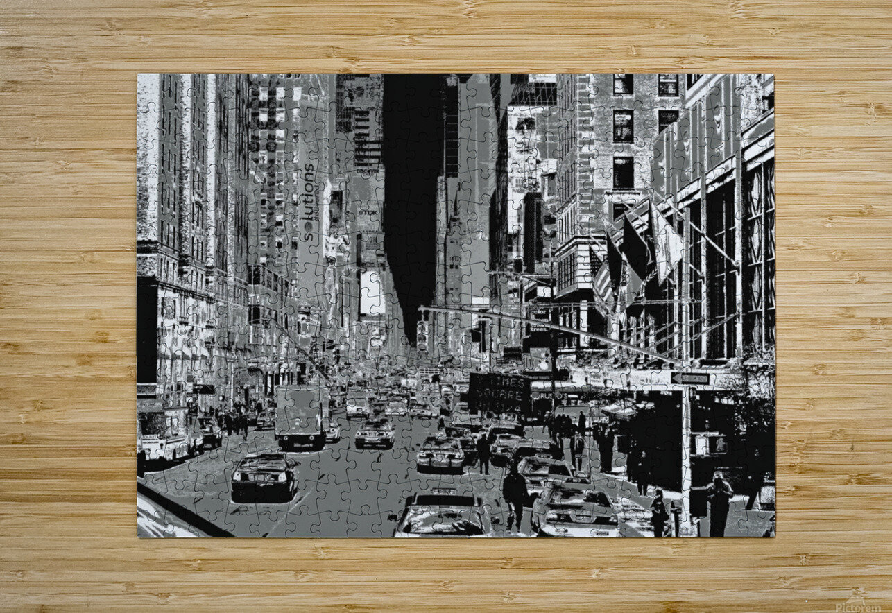 Madison Ave B&W  HD Metal print with Floating Frame on Back