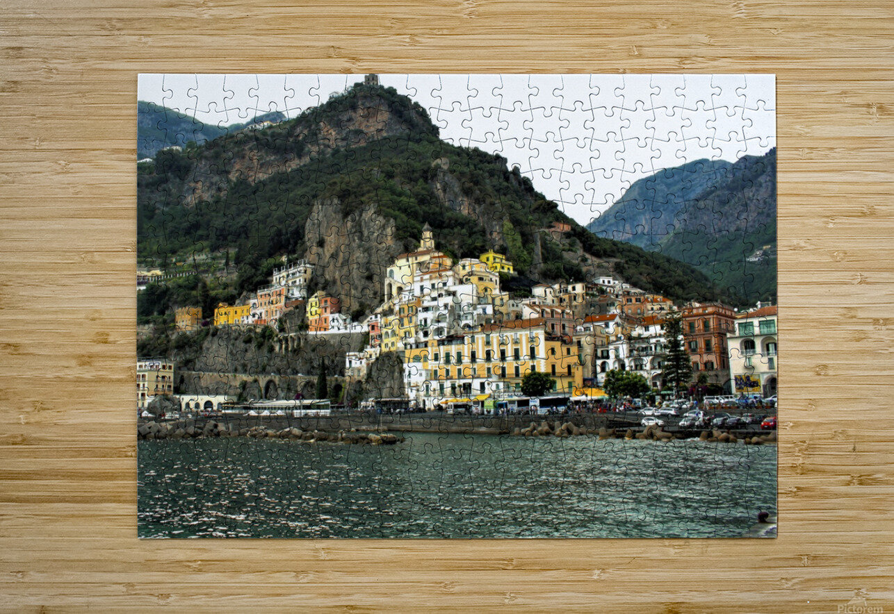 Italian Village Landscape - Amalfi  HD Metal print with Floating Frame on Back