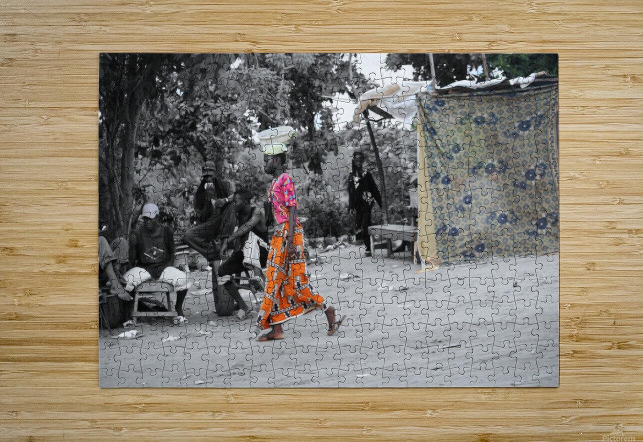 Senegal  Impression métal HD avec cadre flottant sur le dos