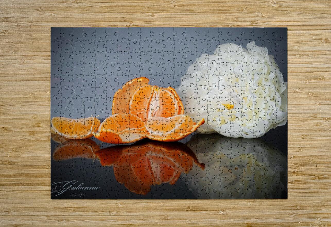Orange sparkle   HD Metal print with Floating Frame on Back
