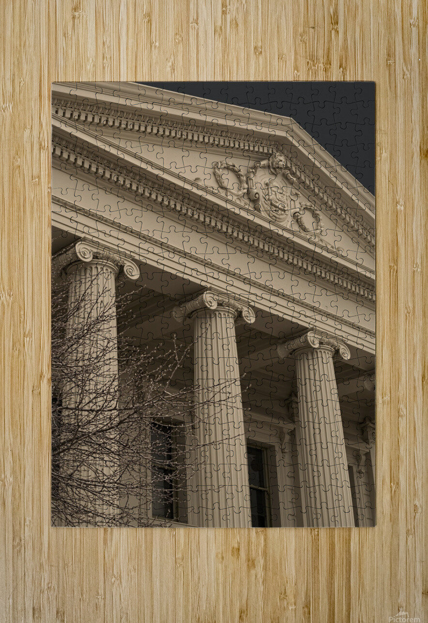 Building with Corinthian Pillars A011201_1419719  HD Metal print with Floating Frame on Back