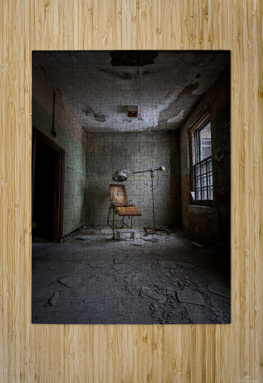 Abandoned Asylum  HD Metal print with Floating Frame on Back
