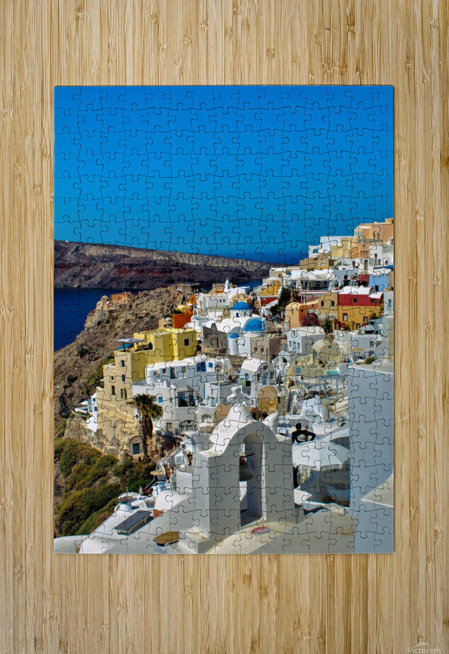 Santorini Colourful  Landscape - Greece  HD Metal print with Floating Frame on Back